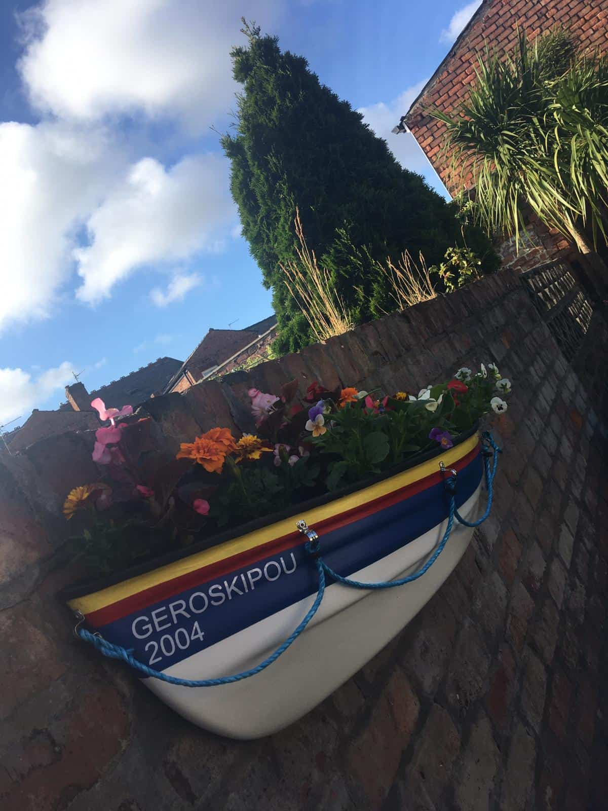 Lifeboat Planter with name added