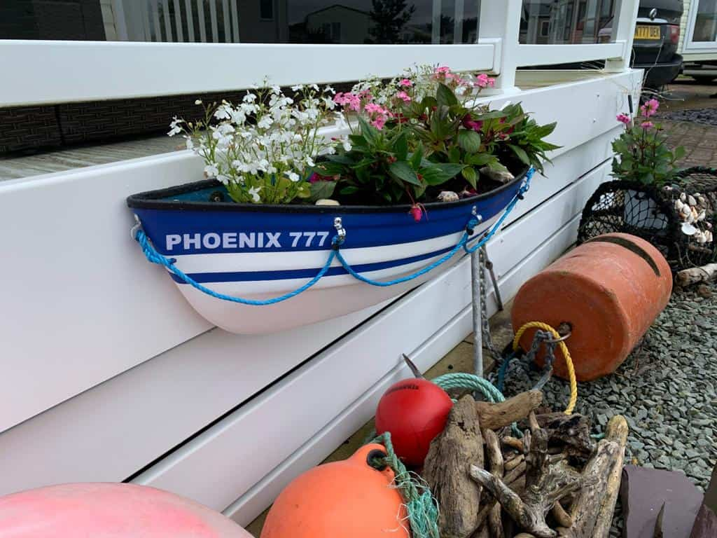 Nautical themed Boat Planter