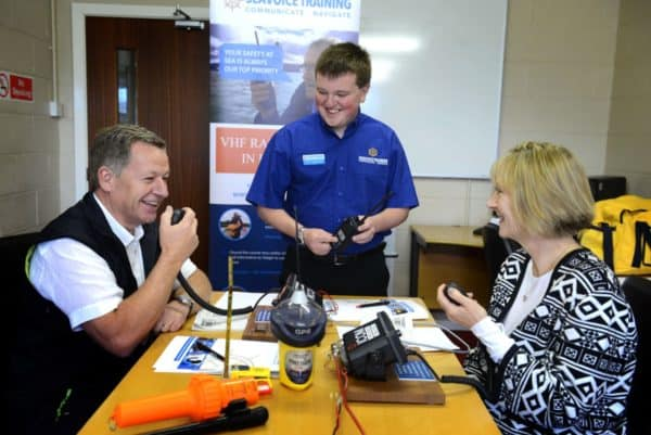 RYA VHF SRC Exam students