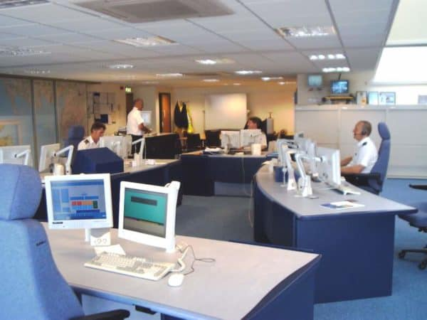 Liverpool Coastguard ops room