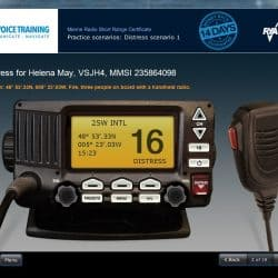 Online RYA VHF Radio course screen