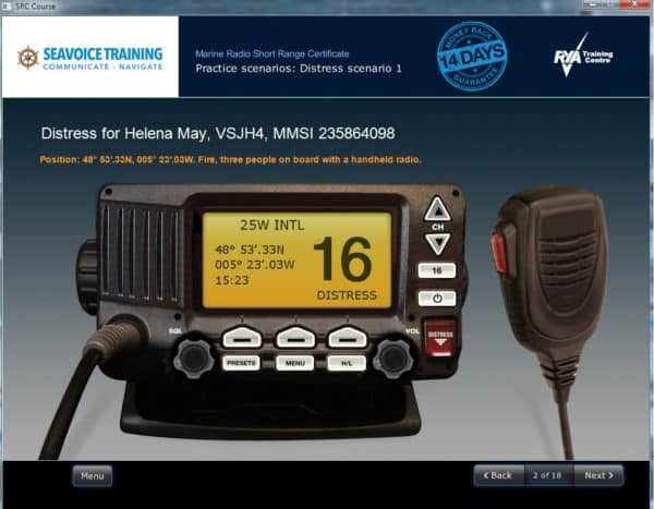 Online rya vhf radio course learn from the experts online rya vhf radio course screen stopboris Choice Image