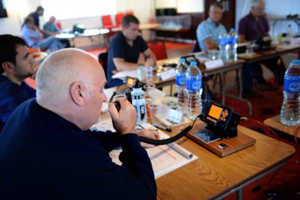 RYA VHF Radio course students