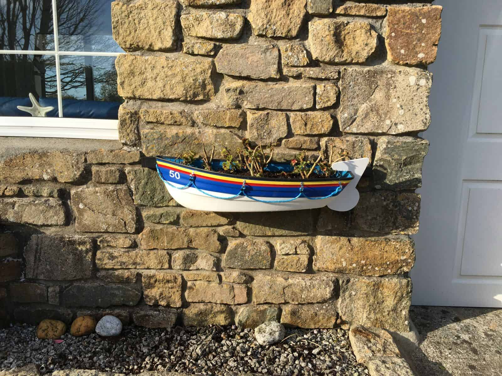 Lifeboat Boat Planter on station